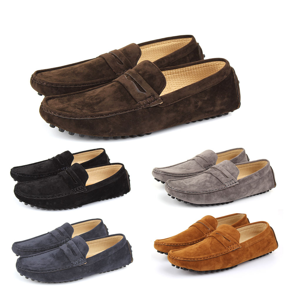 New Mens Faux Suede Casual Loafers Moccasins Slip on Shoes Avail. UK ... 9811200f1512