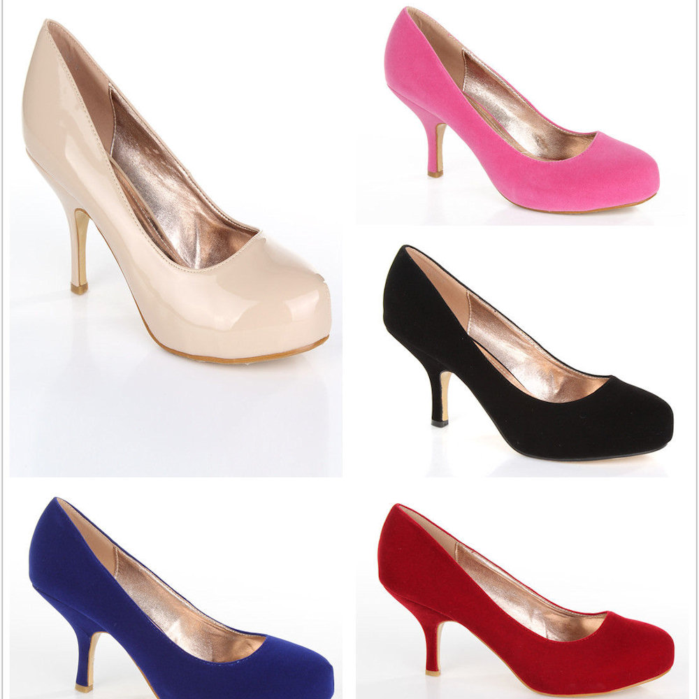 c2a3d60174 WOMENS LADIES LOW MID HEEL CONCEALED PLATFORM WORK PARTY COURT SHOES ...